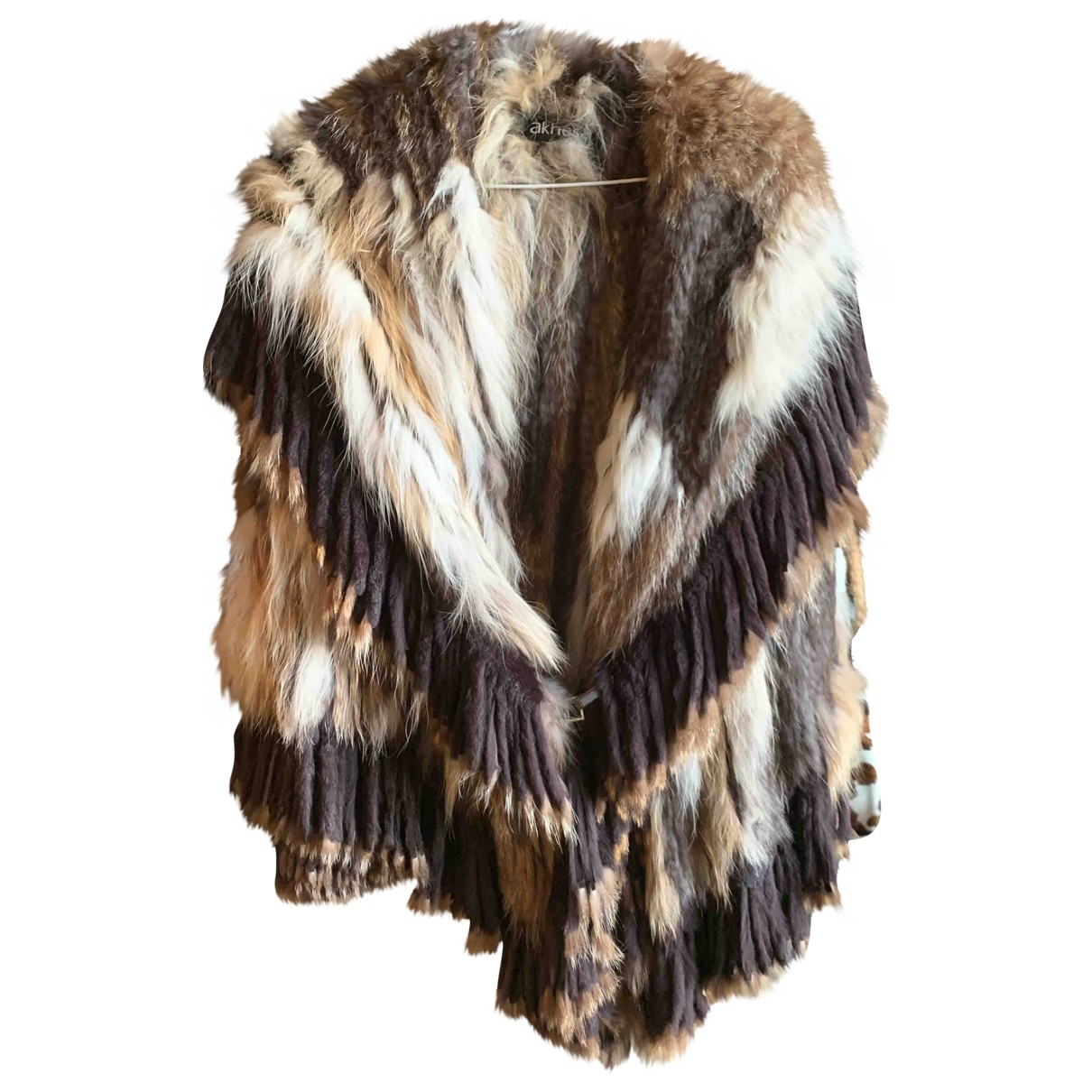 Non Signe / Unsigned Hippie Chic Jacke in  Kamel Fell
