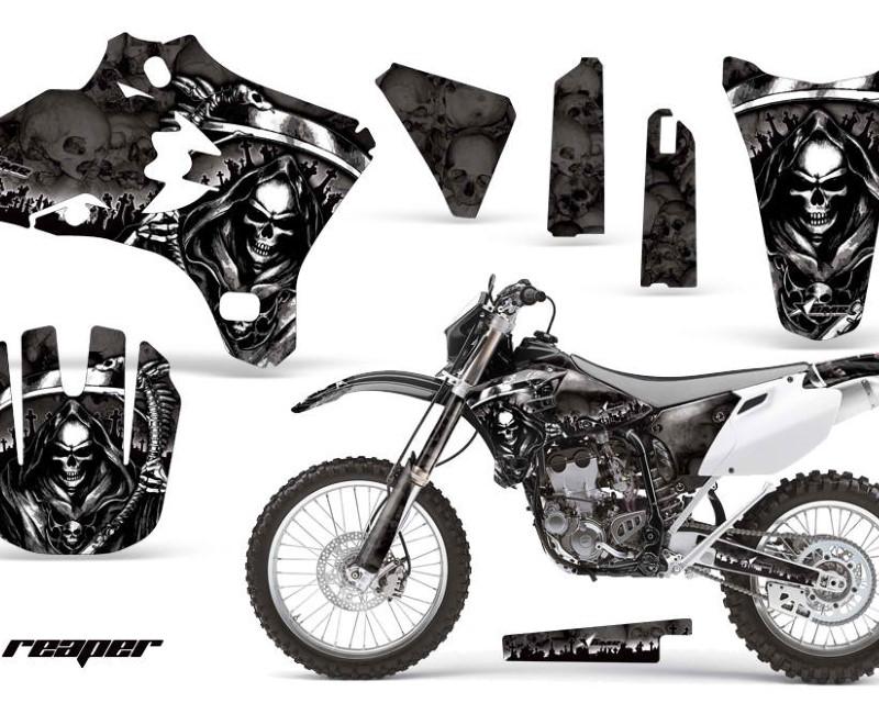 AMR Racing Dirt Bike Graphics Kit Decal Wrap For Yamaha YZ250F YZ450F 2003-2005áREAPER BLACK