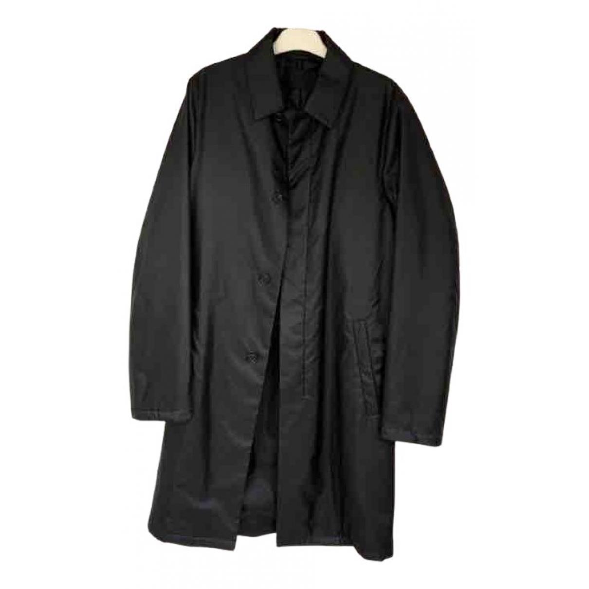 Abrigo en Poliester Negro Prada