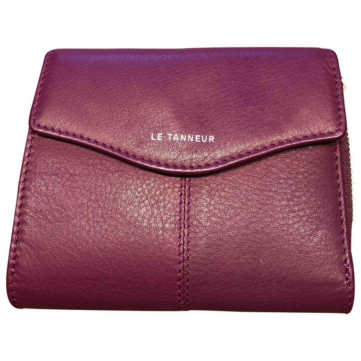 Le Tanneur - Portefeuille   pour femme en cuir - violet