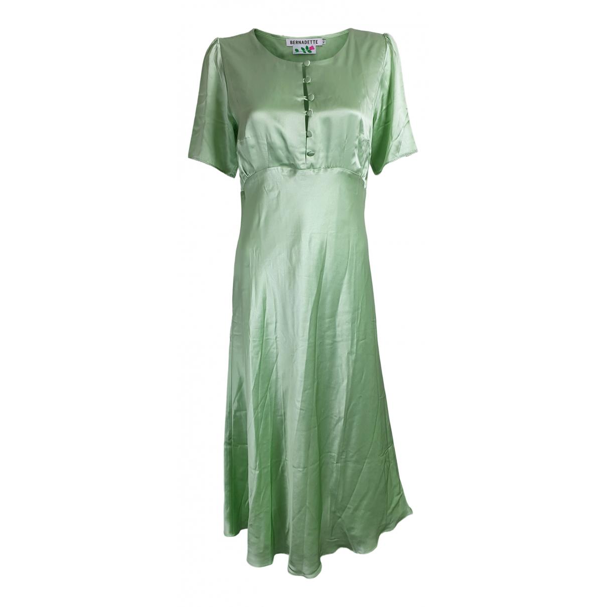 Bernadette \N Kleid in  Gruen Seide