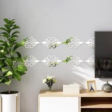 12pcs Mirror Surface Wall Sticker