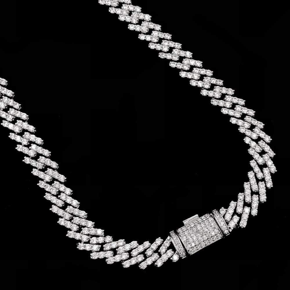 Cuban Box Iced Out Hip Hop Bling Bling Chain 2 Sizes