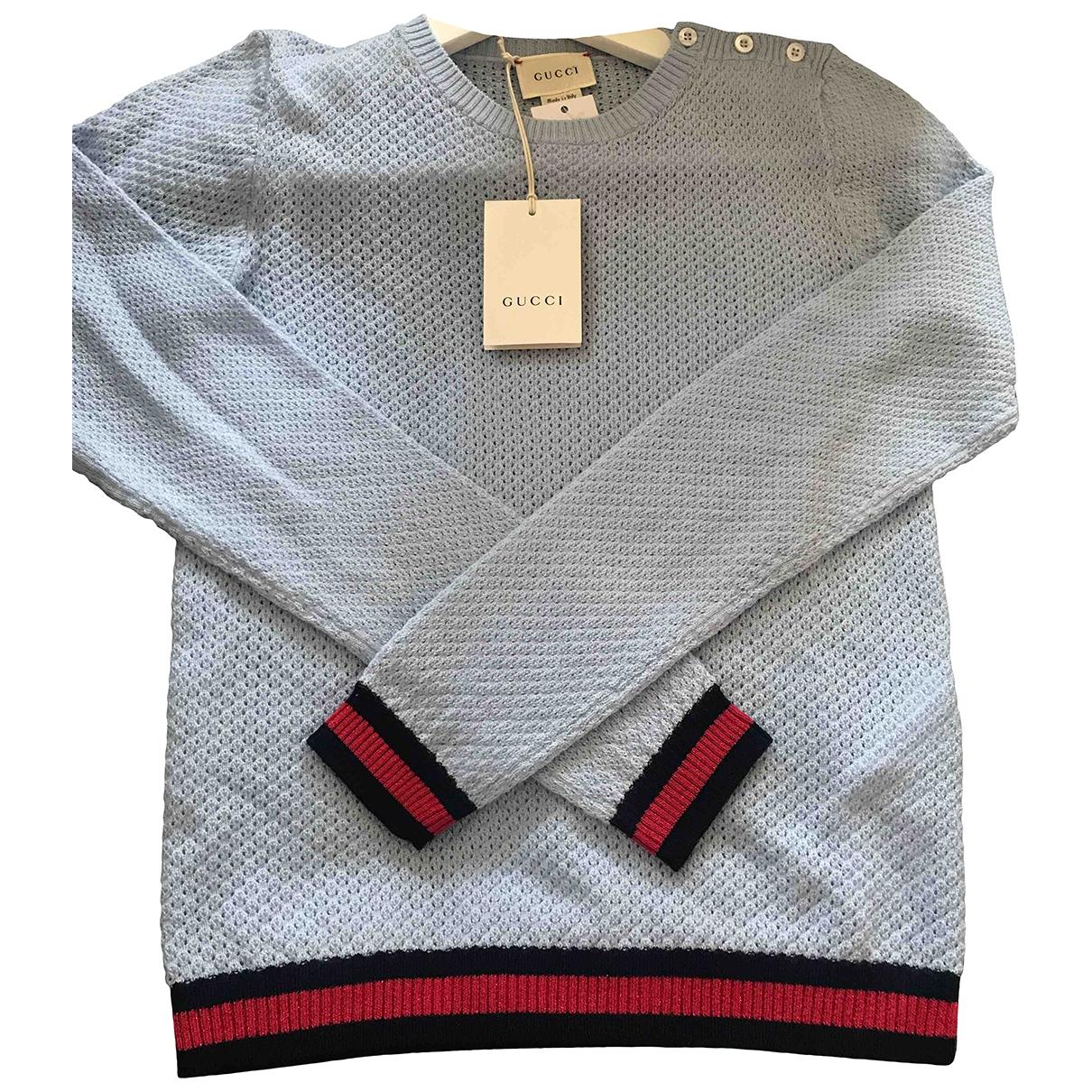 Gucci - Pull   pour enfant en laine - bleu