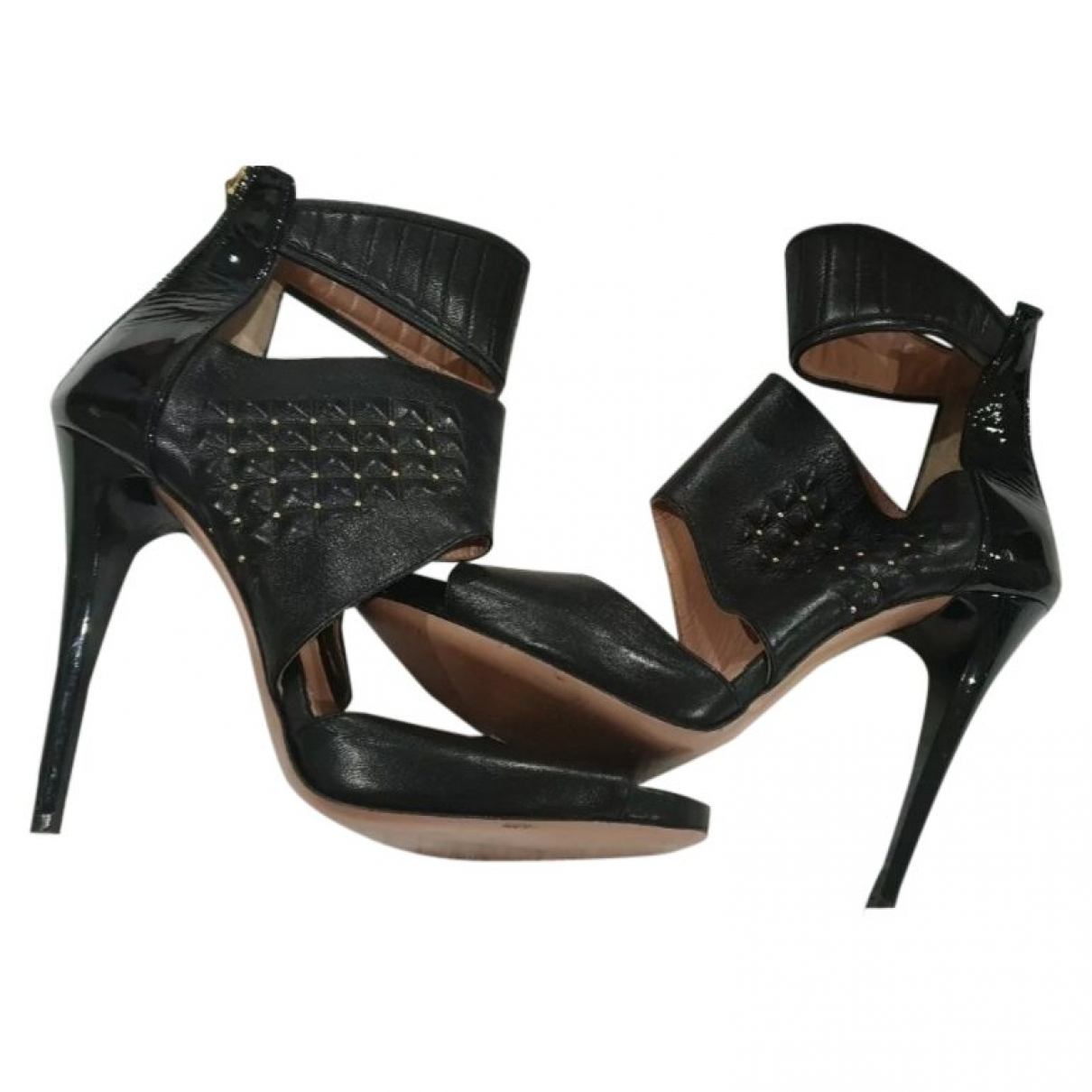 Pinko \N Black Leather Heels for Women 38 EU