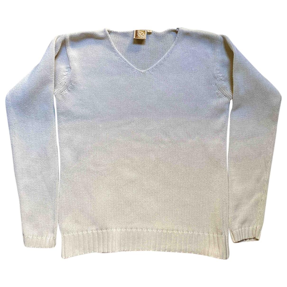 - Pull   pour femme en coton - beige