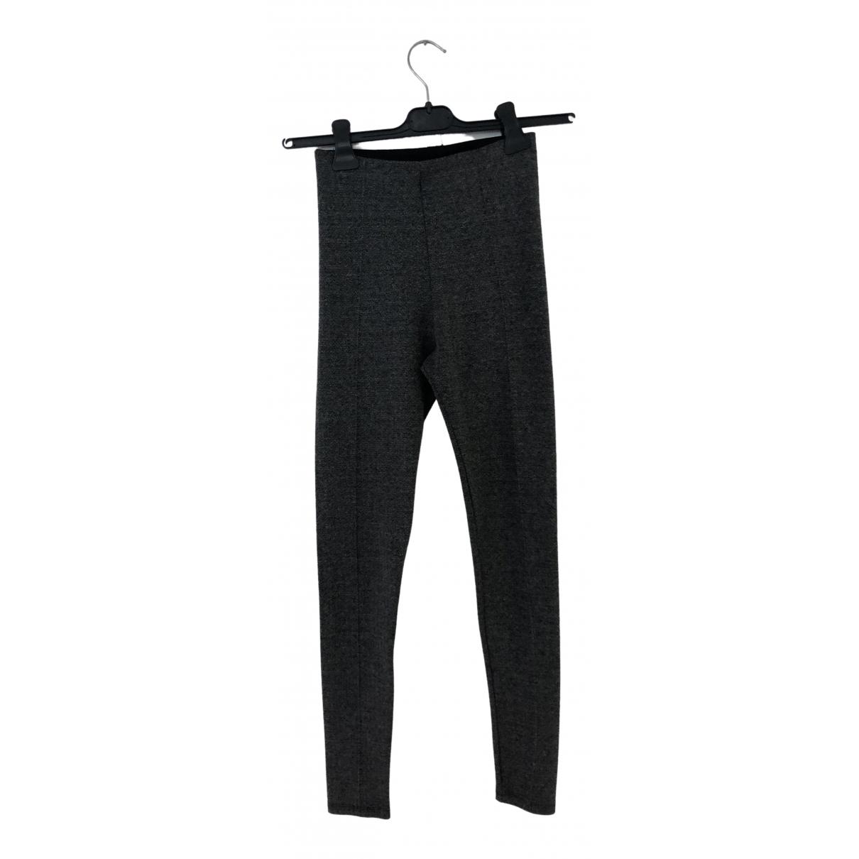 Zara \N Grey Spandex Trousers for Women 36 FR