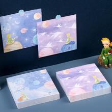 1pack Cartoon Graphic Cover Random Memo Pad