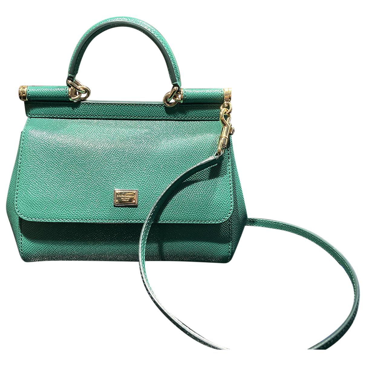 Dolce & Gabbana - Sac a main Sicily pour femme en cuir - vert
