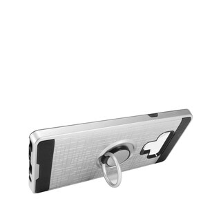 Insten Dual Layer Hybrid Stand Brushed PC/TPU Rubber Case Cover Compatible With Samsung Galaxy Note 9 (silver)