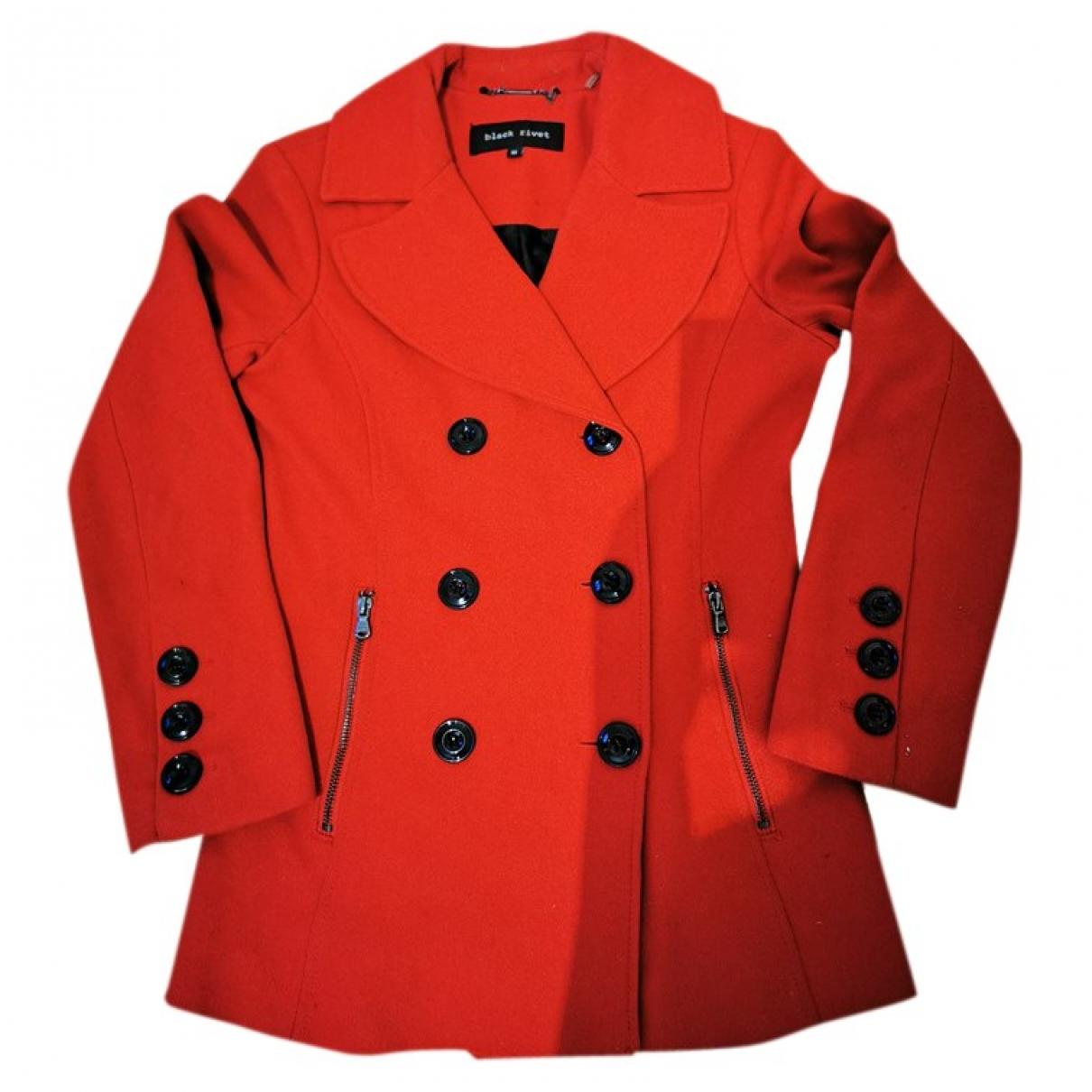 - Manteau   pour femme en laine - rouge