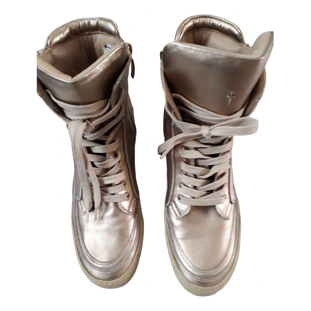 Cesare Paciotti \N Sneakers in  Gold Leder