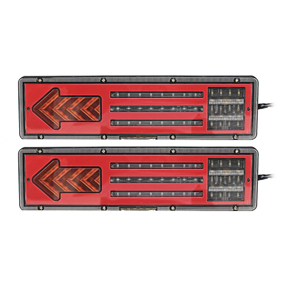 2Pcs 24V LED Tail Lights Brake Turn Indicator Lamps For Car Truck Caravan Trailer