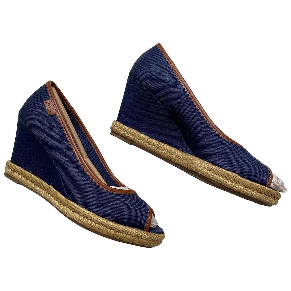 Lauren Ralph Lauren - Espadrilles   pour femme en toile - bleu