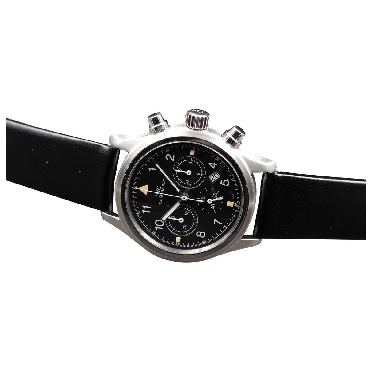Iwc Pïlot Black Steel watch for Men \N