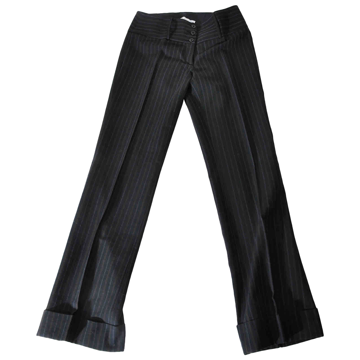 Pinko N Black Wool Trousers for Women 42 IT