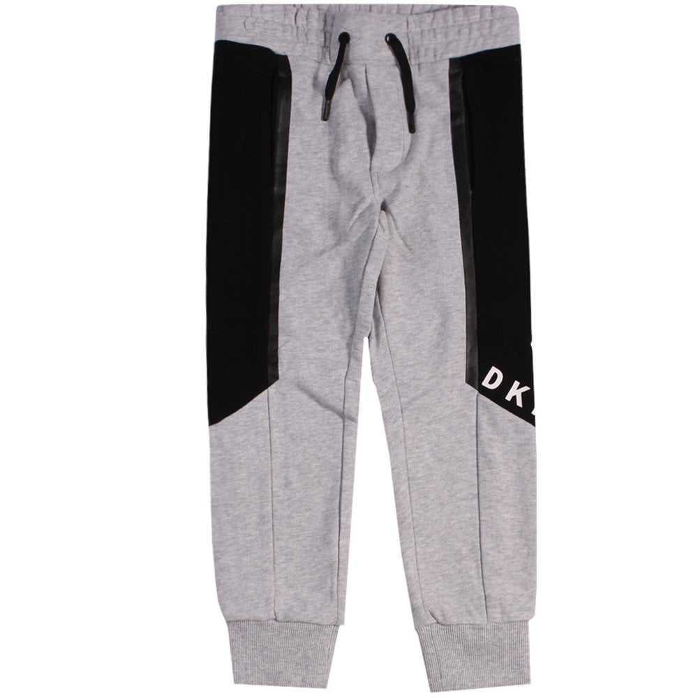 DKNY Kids Logo Joggers Grey  Colour: GREY, Size: 8 YEARS