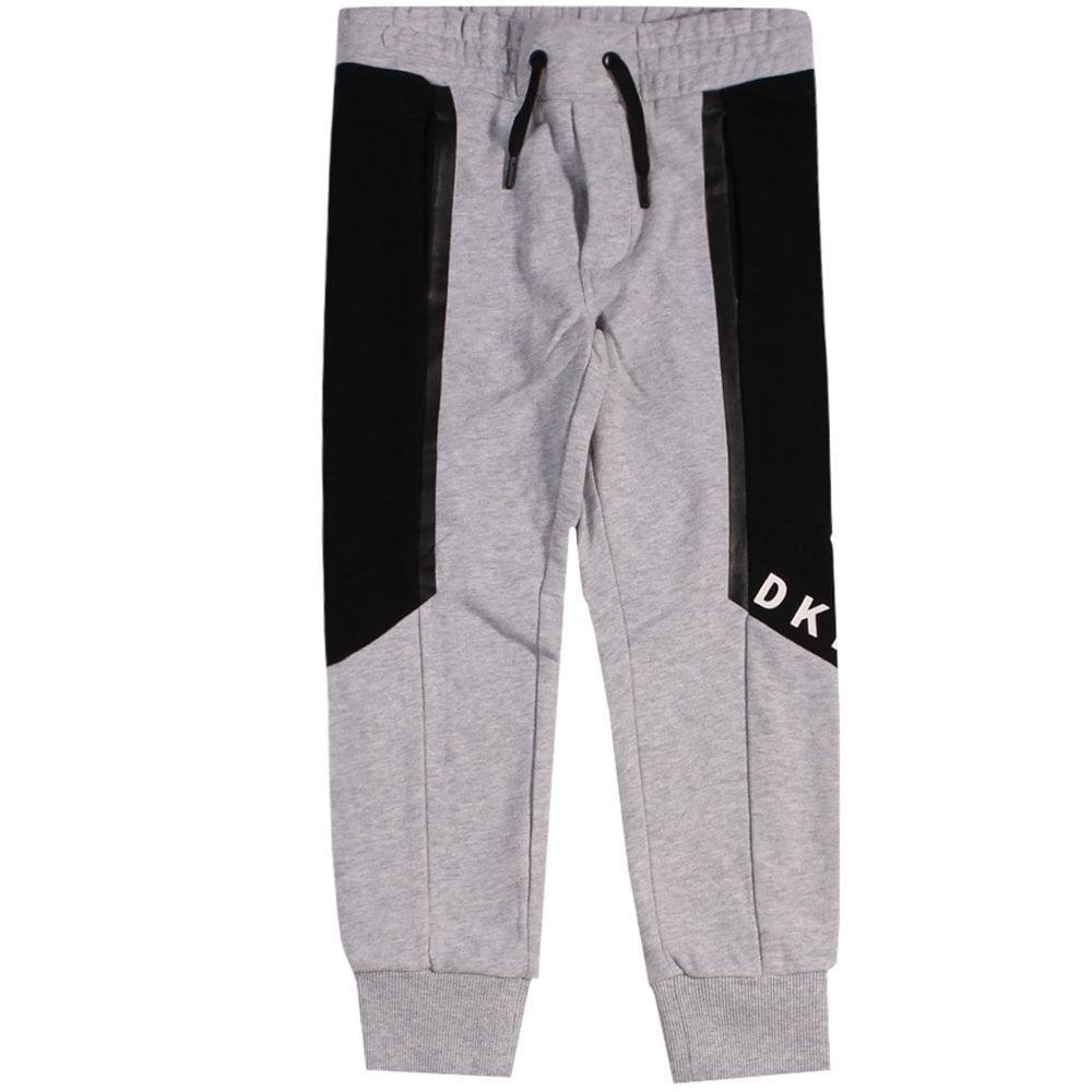 DKNY Kids Logo Joggers Grey  Colour: GREY, Size: 8 YEARS