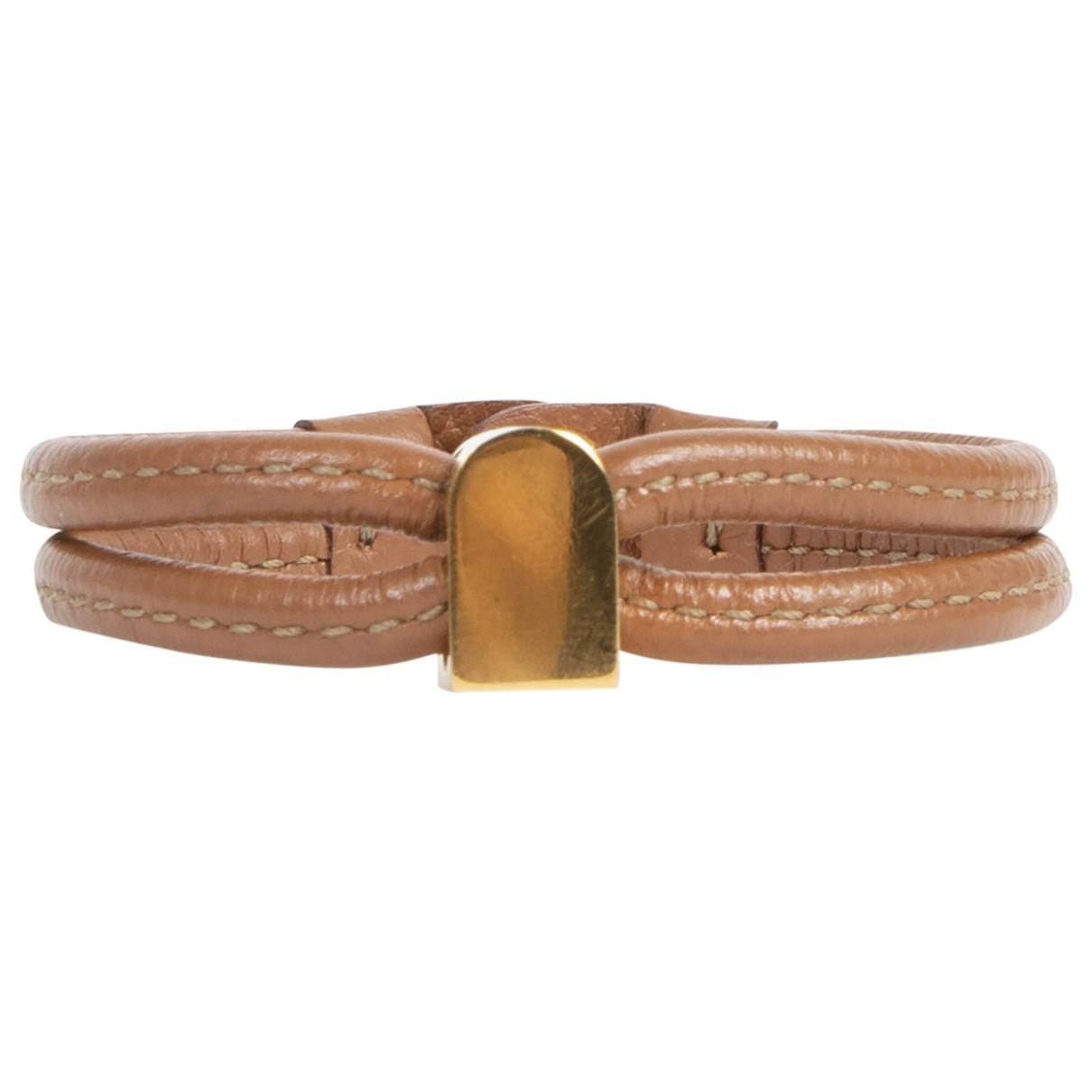 Delvaux - Bracelet   pour femme en cuir - marron