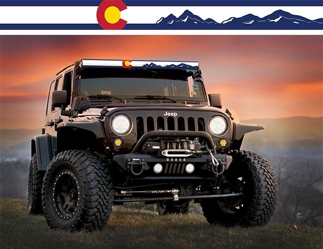 AeroLidz COLFLG52 LED Light Bar Cover Insert 52 Inch Colorado Flag