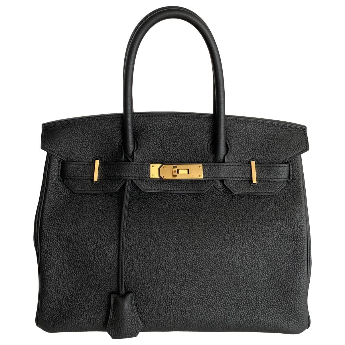 Hermès Birkin 30 Black Leather handbag for Women \N