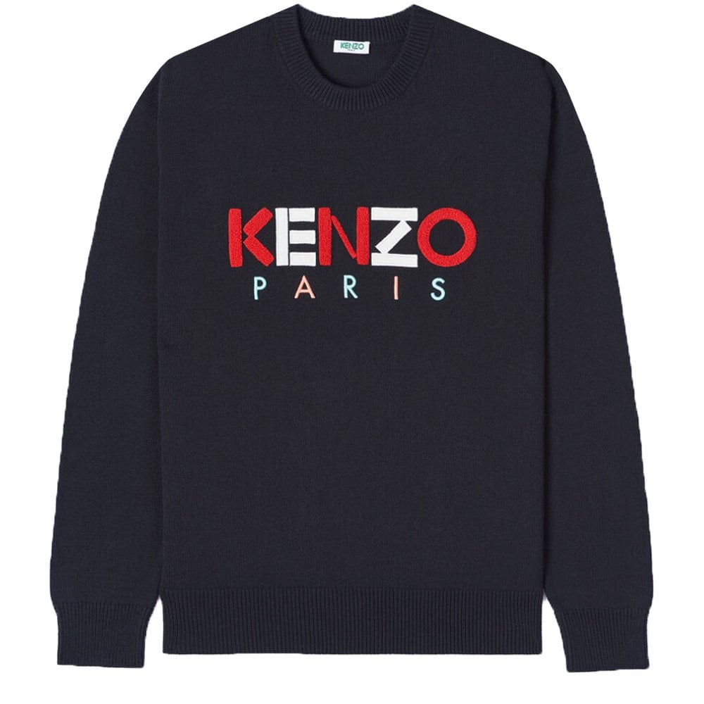 Kenzo Paris Wool Jumper Colour: BLACK, Size: EXTRA EXTRA LARGE