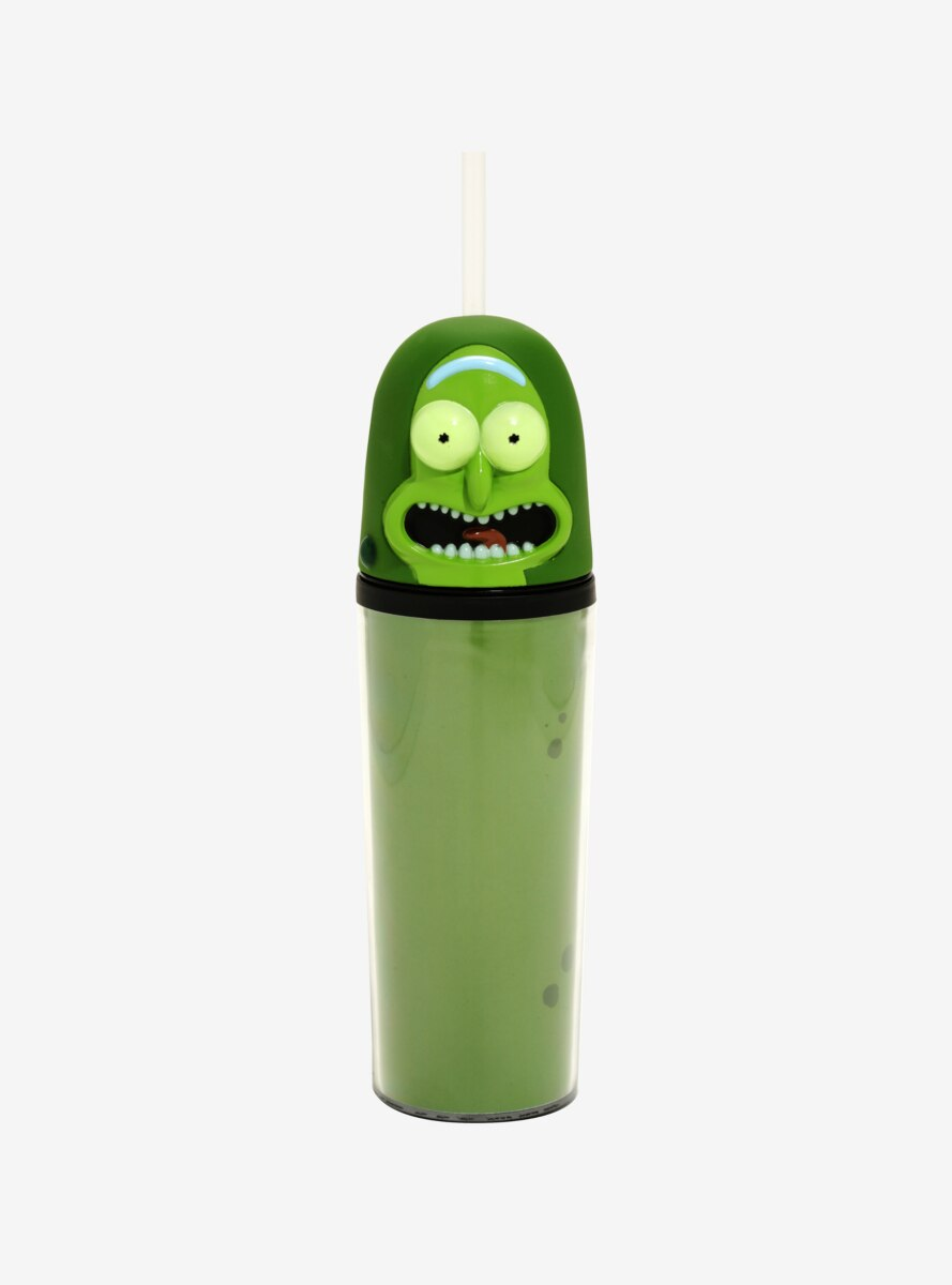 Rick And Morty Pickle Rick Cup With Straw