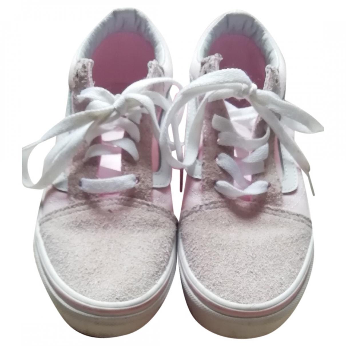 Vans - Baskets   pour enfant en suede - rose