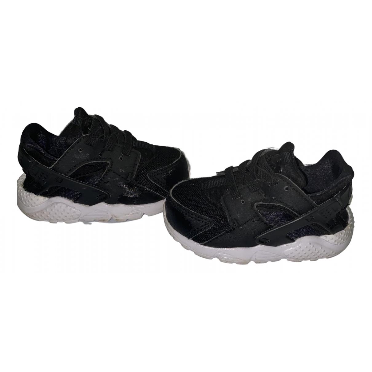 Nike - Baskets Huarache pour enfant en cuir - noir