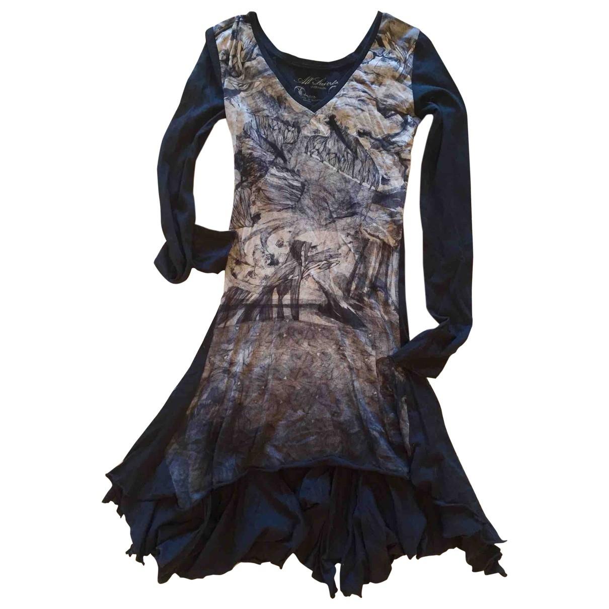 All Saints \N Kleid in  Schwarz Baumwolle
