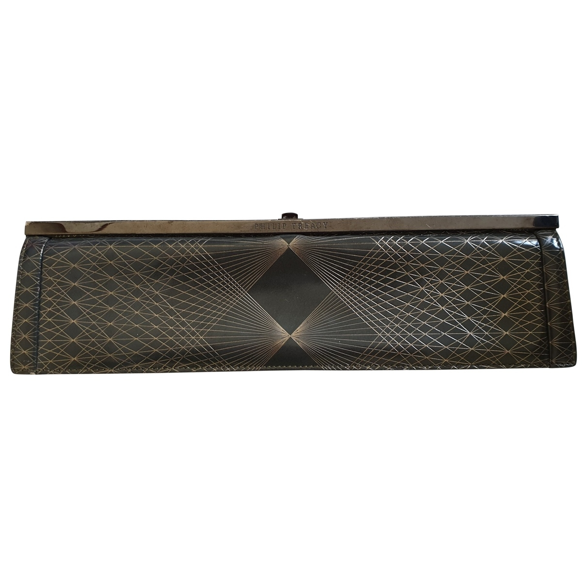 Philip Treacy \N Grey Leather Clutch bag for Women \N