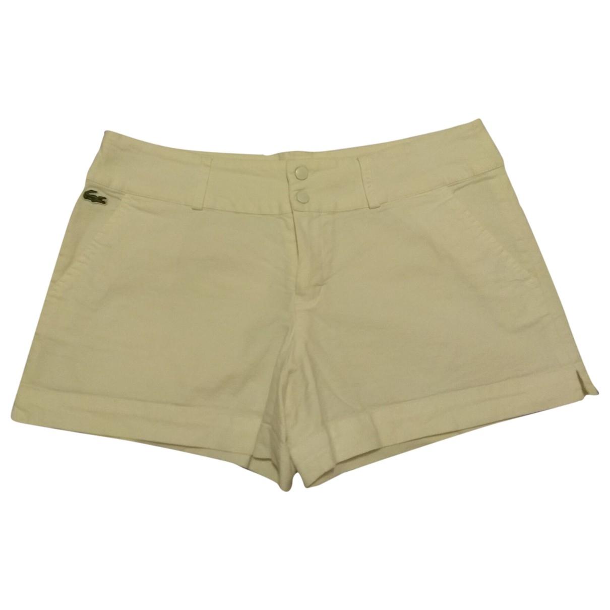Lacoste \N Shorts in  Weiss Baumwolle - Elasthan