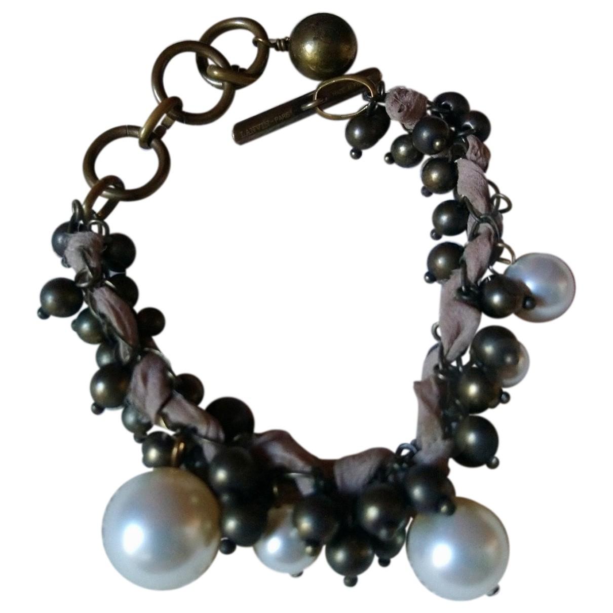 Lanvin - Bracelet   pour femme en metal - metallise