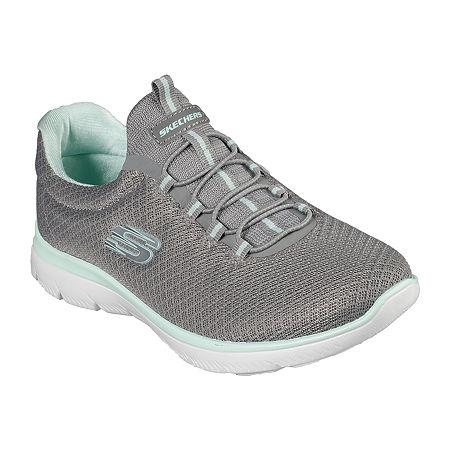 Skechers Summits Womens Walking Shoes Wide Width, 5 1/2 Wide, Gray