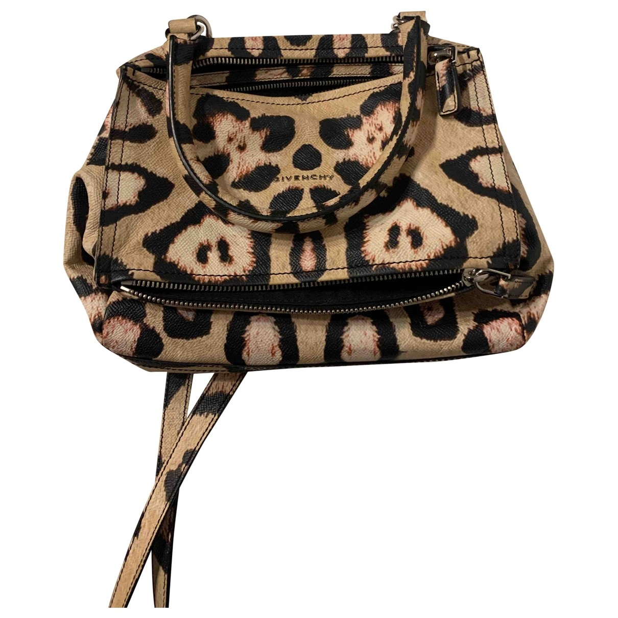 Givenchy - Sac a main Pandora pour femme en cuir - beige