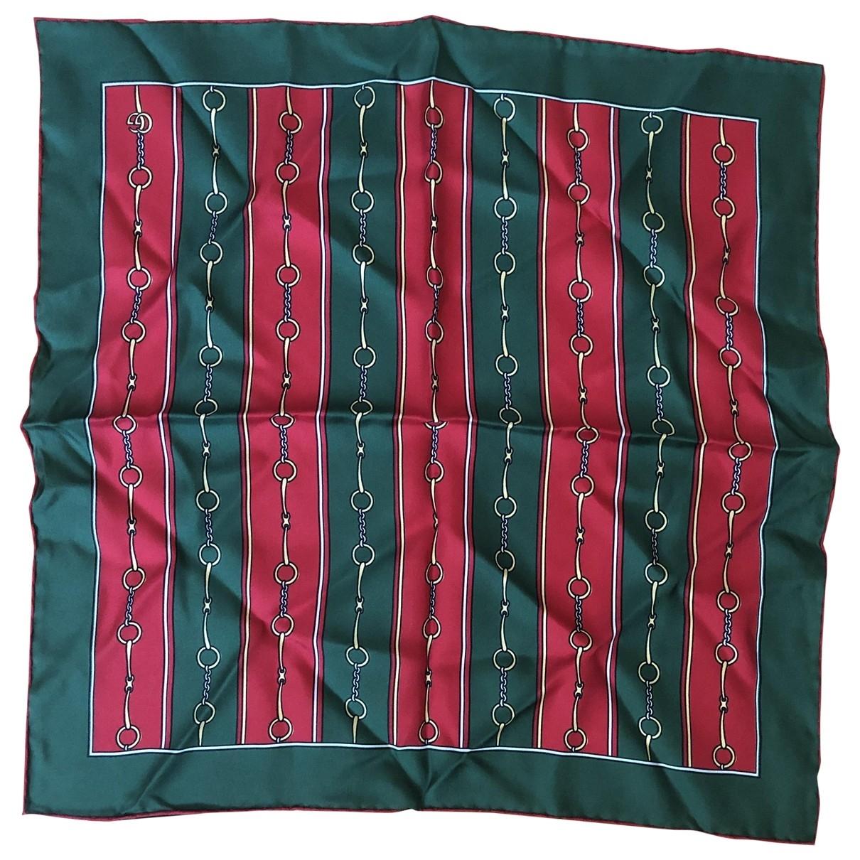 Gucci \N Green Silk scarf & pocket squares for Men \N
