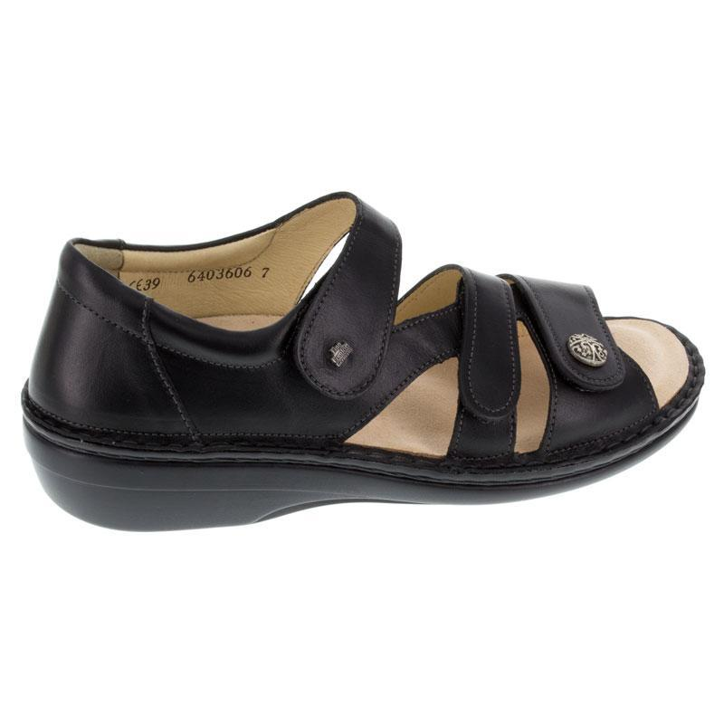 Finn Comfort Sintra Black Leather Soft Footbed 39