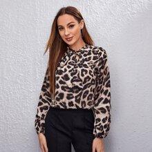 Blusas Leopardo Elegante
