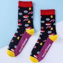 Socken mit Weihnachten Muster