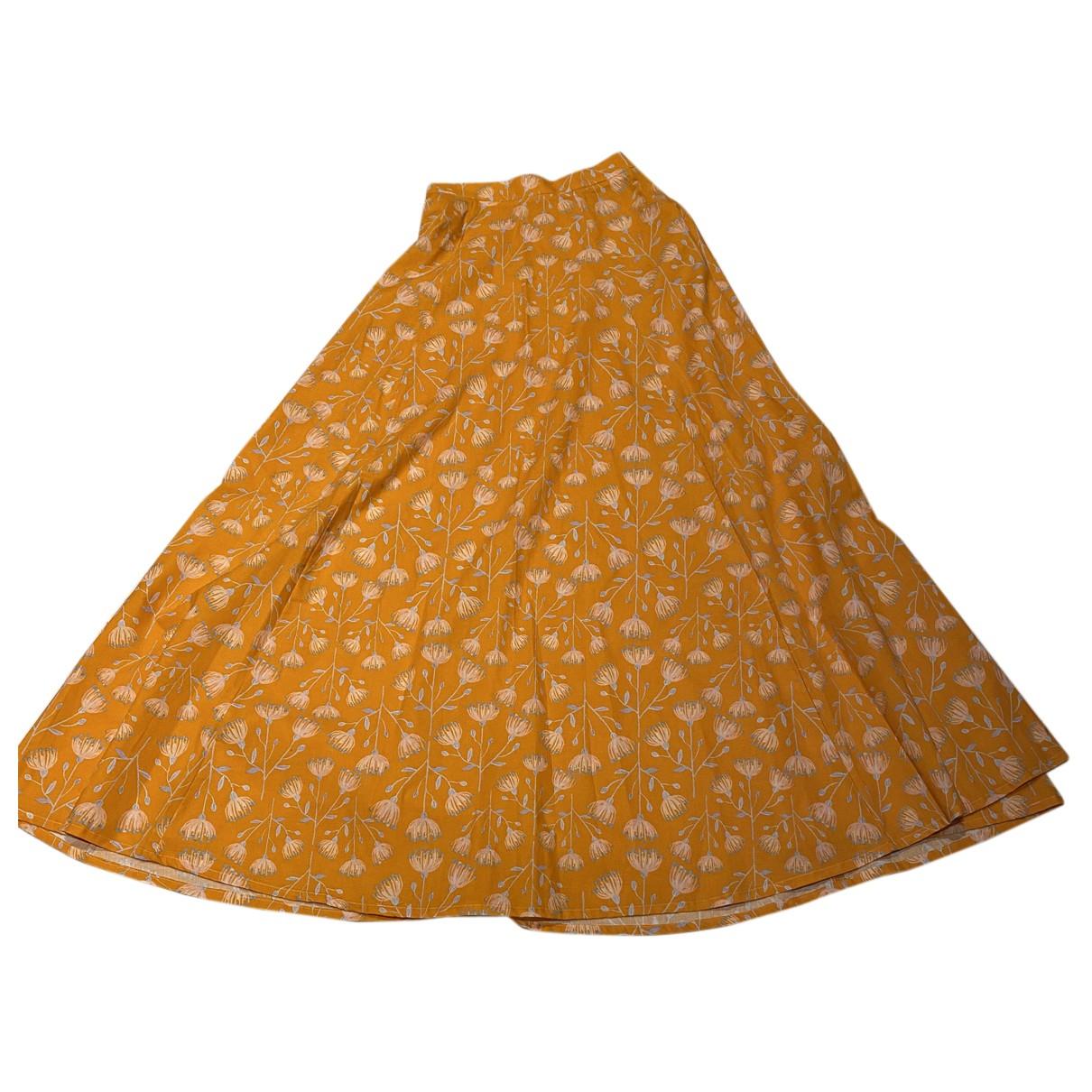 Cestlav - Jupe   pour femme en coton - orange