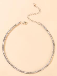 Christmas Rhinestone Decor Layered Necklace