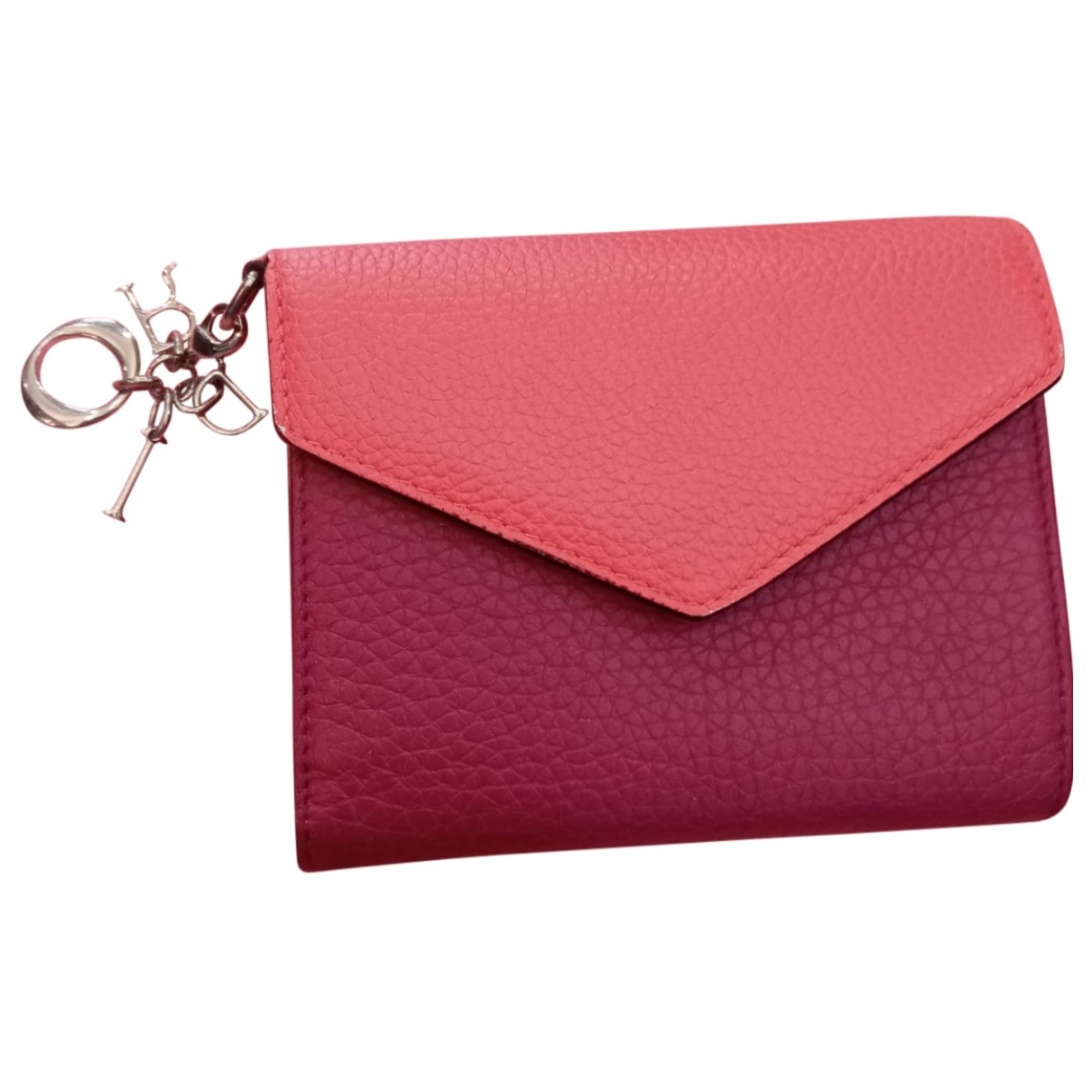 Dior - Portefeuille   pour femme en cuir - rose