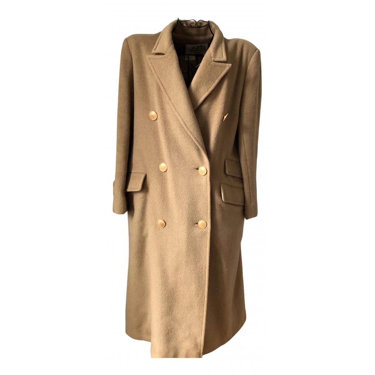 Hermes - Manteau   pour femme en laine - beige