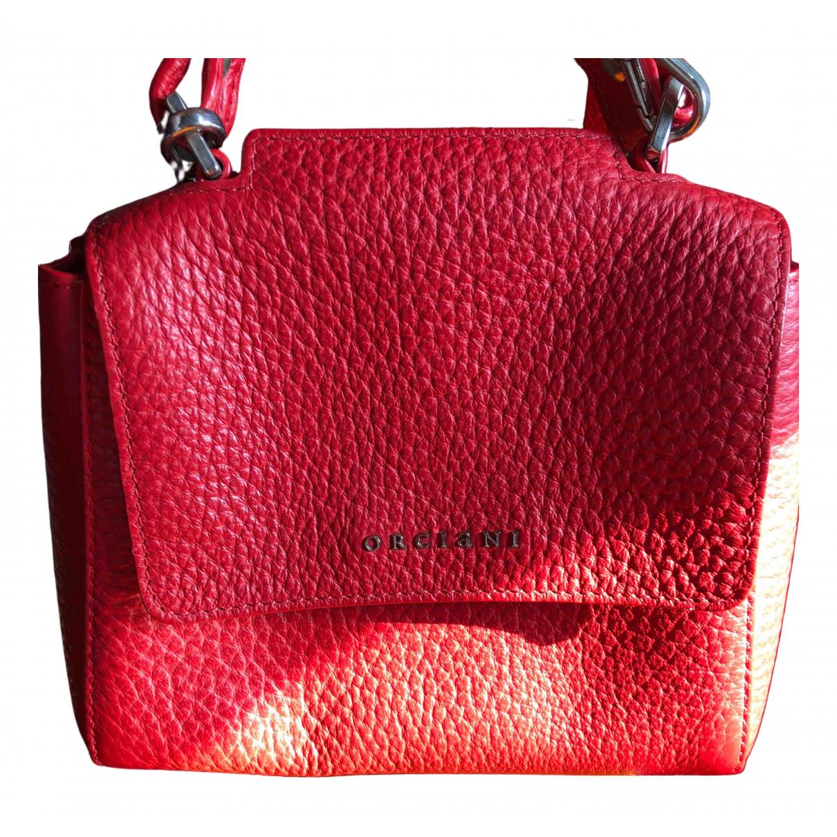 Orciani \N Handtasche in  Rot Leder
