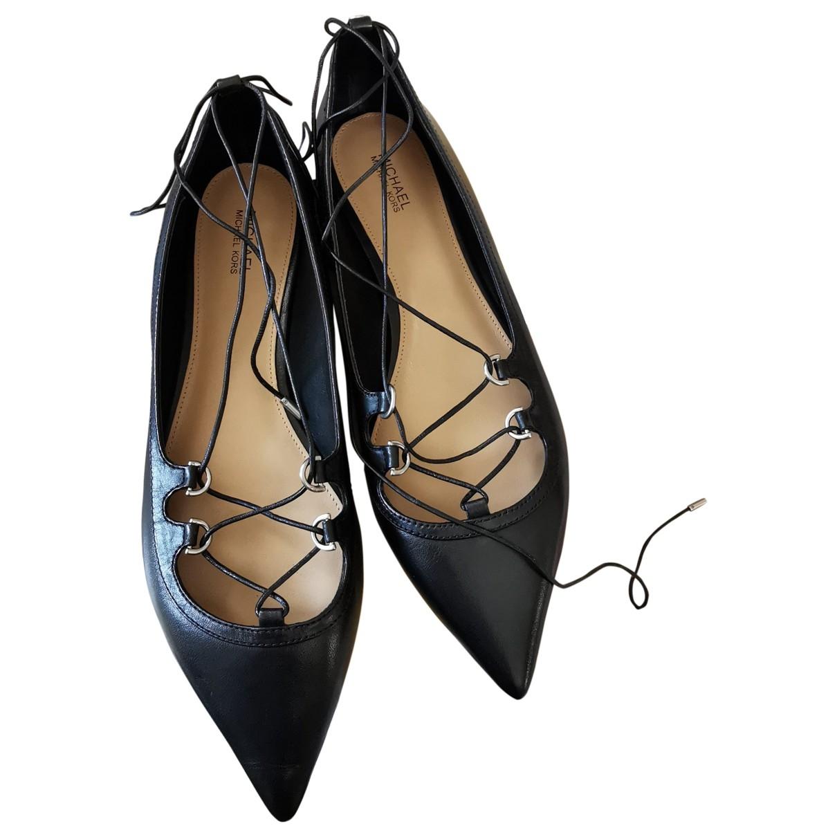 Michael Kors - Ballerines   pour femme en cuir - noir