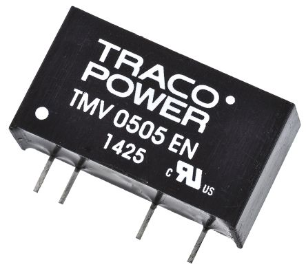 TRACOPOWER TMV EN 1W Isolated DC-DC Converter Through Hole, Voltage in 4.5 → 5.5 V dc, Voltage out 15V dc