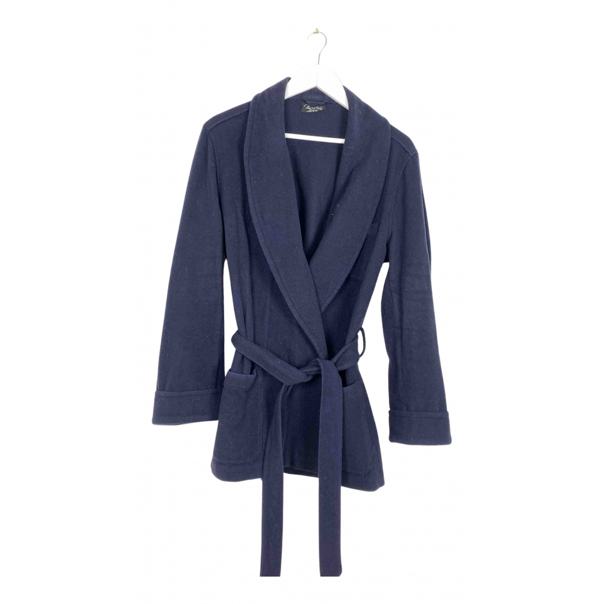 Non Signé / Unsigned N Blue Wool coat for Women L International