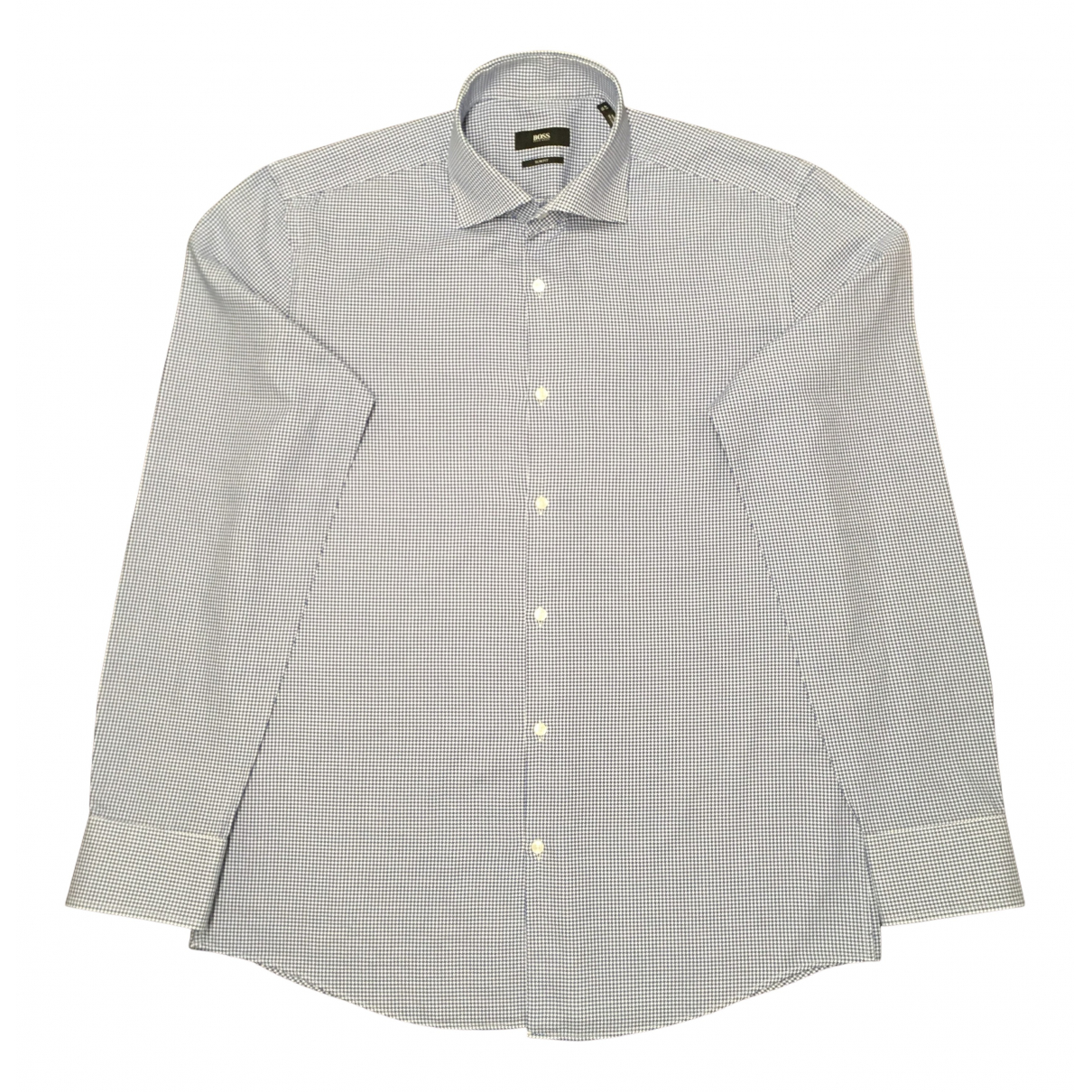 Boss N Blue Cotton Shirts for Men 41 EU (tour de cou / collar)