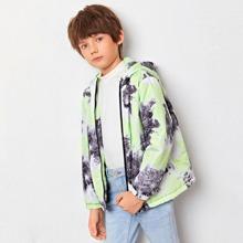 Winddichte Jacke mit Reissverschluss vorn und Batik