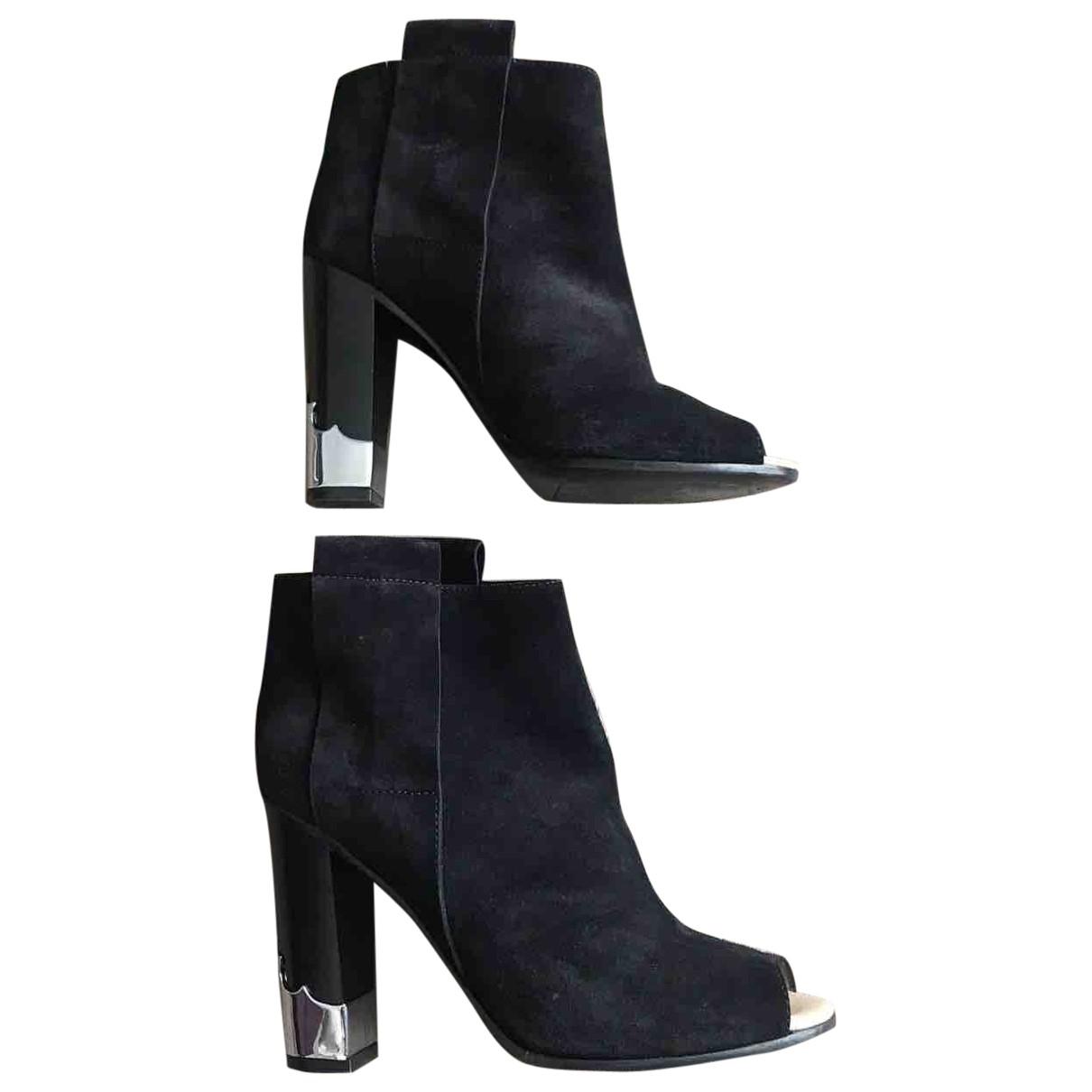 Golden Goose - Boots   pour femme en suede - noir